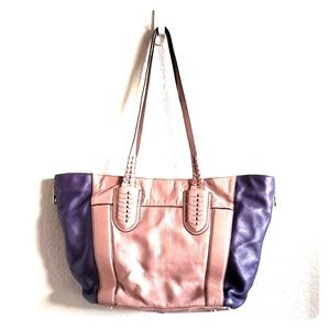 orYANY Lavender and Plum leather tote